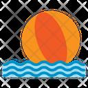 Ball Beach Recreation Summer Vacation Sea Wave Icon