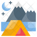 Background Beach Camping Icon