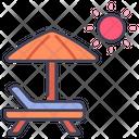 Beach Umbrella Summer Icon