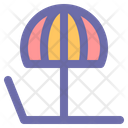 Sunbed Bed Chair Icon