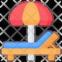 Beach Deck Chair Icon