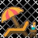 Chair Beach Summer Icon