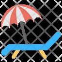 Beach Chair Umbrella Icon