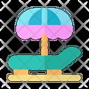 Beach Chair Beach Deck Chair Icon