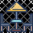 Beach Chair Beach Umbrella Icon