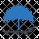 Deck Beach Umbrella Icon