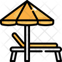 Beach Deck Deck Umbrella Icon