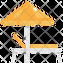 Umbrella Bed Summer Icon