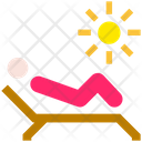 Summer Sunbed Vacation Icon