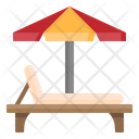 Sun Bed Beach Icon