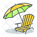 Beach Place Place For Rest Icon