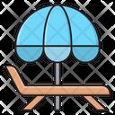 Deck Chair Umbrella Icon