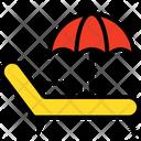 Beach Deck Beach Parasol Icon
