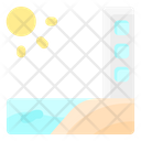 Beach First Line Icon