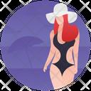 Beach Girl Icon
