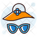 Beach Hat Floppy Hat Summer Hat Icon
