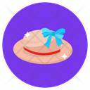 Ladies Hat Beach Hat Top Hat Icon