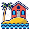 Beach House Cabin Bunglow Icon