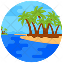 Island Beach Landscape Tropical Place Icon