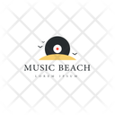 Music Beach Beach Tag Beach Label Icon