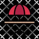 Umbrella Table Chair Icon