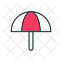 Beach Umbrella Sun Protection Protection Icon