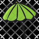 Beach Umbrella Brolley Rainshade Icon