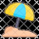 Beach Umbrella Sun Umbrella Umbrella Icon