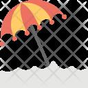Seashore Umbrella Beach Icon