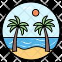 Beach View Beachside Seaside Icon