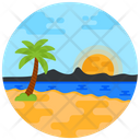 Island Beach View Tropical Place Icon