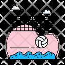 Beach Volleyball Handball Olympic Sports Icon