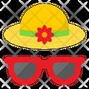 Beach Wear Beach Hat Floppy Hat Icon