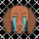 Beagle Dog Suffering Icon