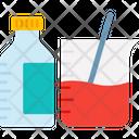 Beaker With Bottle Chemical Bottle Glass Beaker Icon