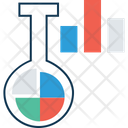 Beaker With Graph Lab Analytics Lab Experiment Icon