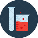 Beaker With Test Tube Chemical Flask Lab Glassware Icon