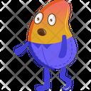 Shocked Bean Icon