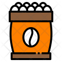 Beans Bag Coffee Icon