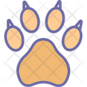 Bear Footprint Trace Icon
