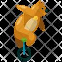 Bear Train Circus Icon