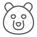 Bear Grizzly Face Icon
