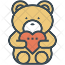 Bear Hug Heart Icon