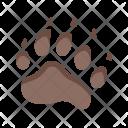 Bear Footprint Animal Icon