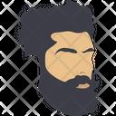Beard Face Hipster Icon