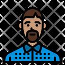 Beard Bald Black Icon