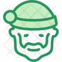Beard Christmas Claus Icon