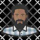 Beard Black Male Big Beard Icon