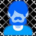 Beard Man Boy Icon