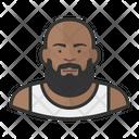 Beard Man Man Heavy Icon